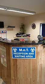 Penhale garage reception desk